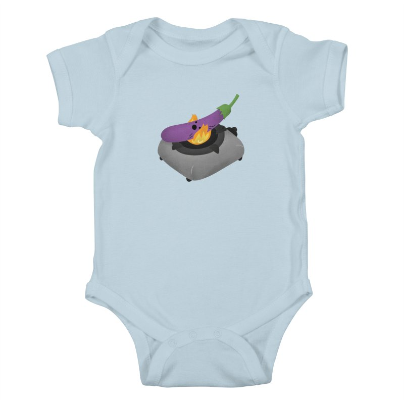 Talong on fire Kids Baby Bodysuit by Filipeanut Sari-Sari Store