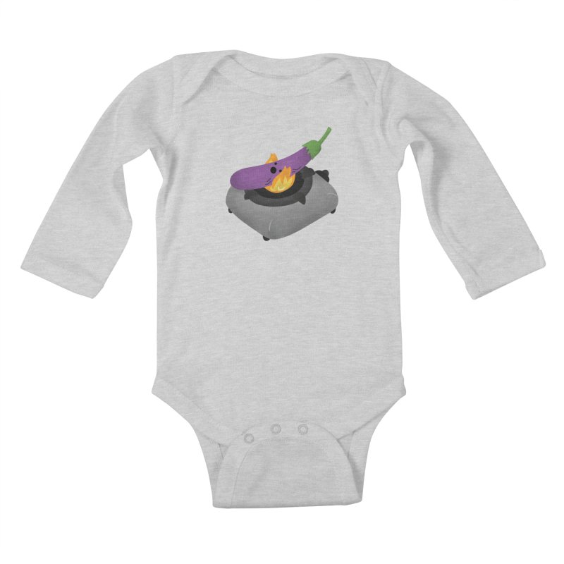 Talong on fire Kids Baby Longsleeve Bodysuit by Filipeanut Sari-Sari Store