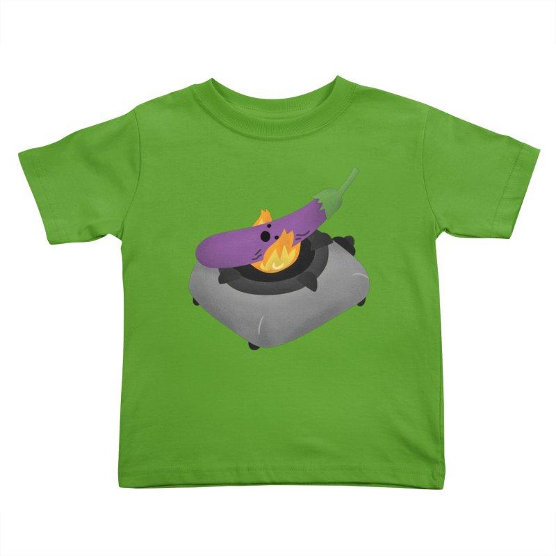 Talong on fire Kids Toddler T-Shirt by Filipeanut Sari-Sari Store