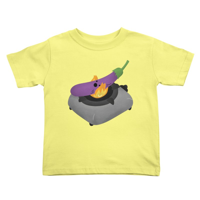 Talong on fire Kids Toddler T-Shirt by Filipeanut Sari-Sari Store