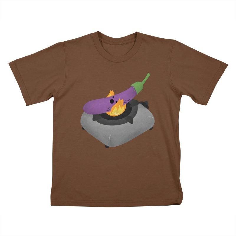 Talong on fire Kids T-Shirt by Filipeanut Sari-Sari Store
