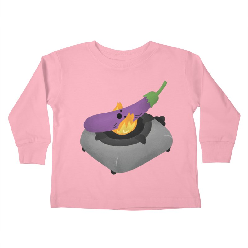 Talong on fire Kids Toddler Longsleeve T-Shirt by Filipeanut Sari-Sari Store