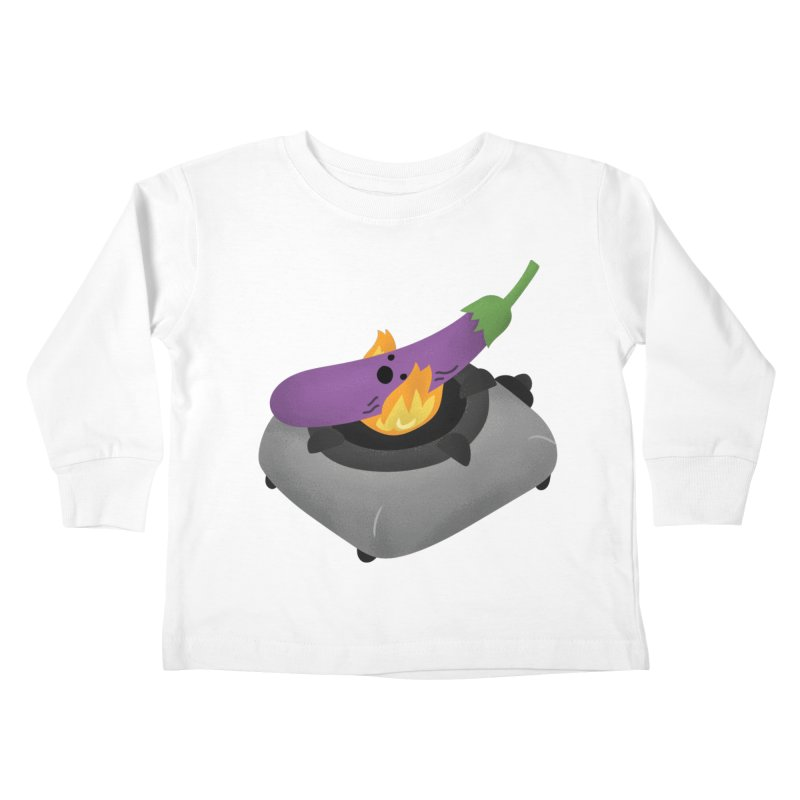 Talong on fire Kids Toddler Longsleeve T-Shirt by Filipeanut Sari-Sari Store