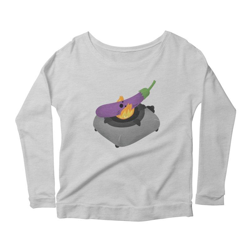 Talong on fire Women's Scoop Neck Longsleeve T-Shirt by Filipeanut Sari-Sari Store