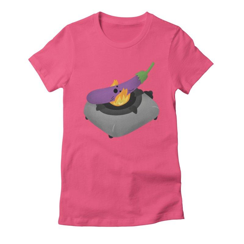 Talong on fire Women's T-Shirt by Filipeanut Sari-Sari Store