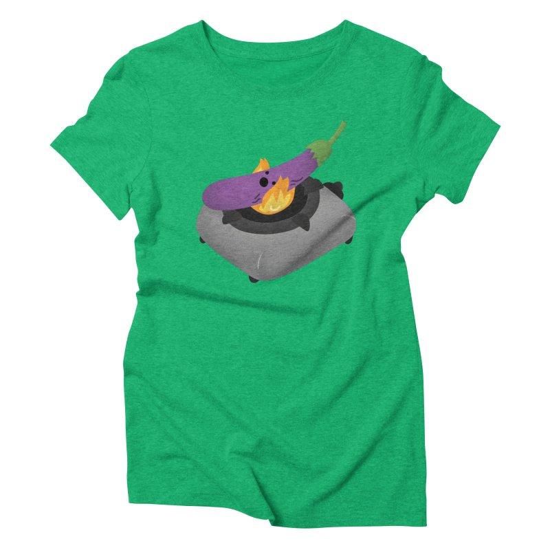 Talong on fire Women's Triblend T-Shirt by Filipeanut Sari-Sari Store