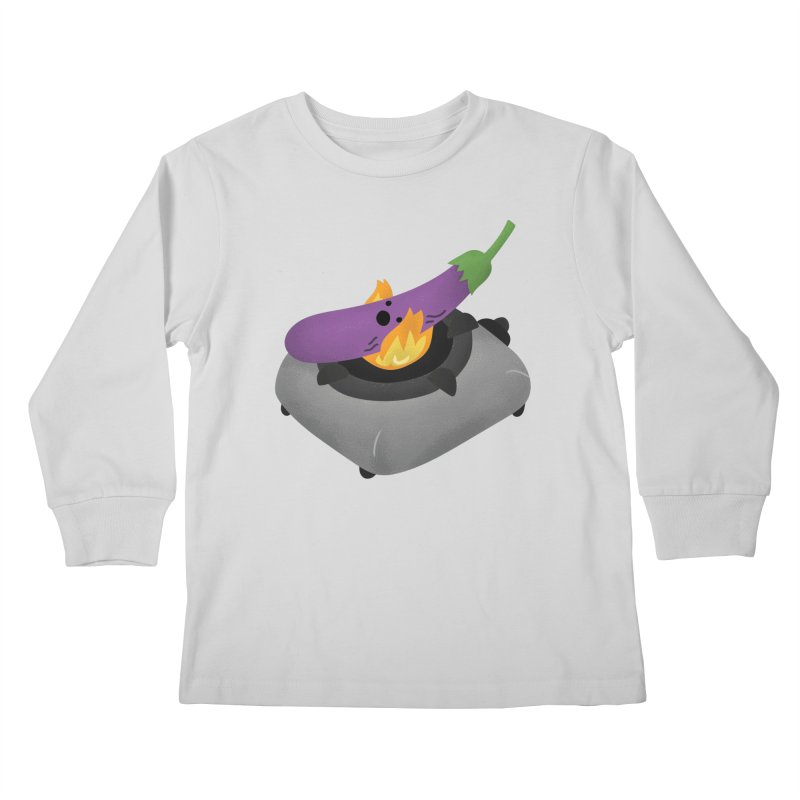 Talong on fire Kids Longsleeve T-Shirt by Filipeanut Sari-Sari Store