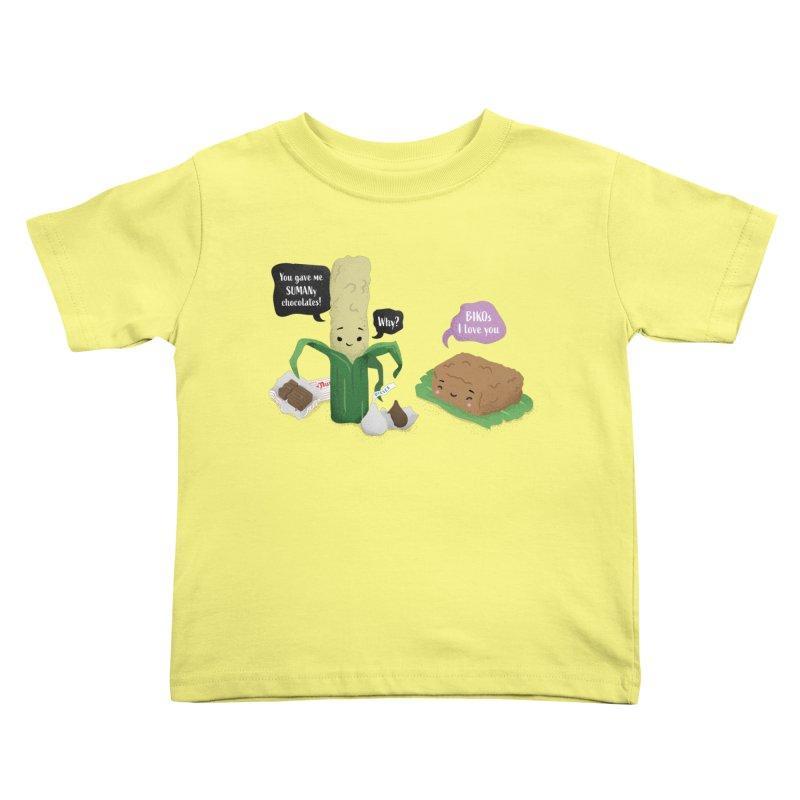 Suman & Biko Kids Toddler T-Shirt by Filipeanut Sari-Sari Store