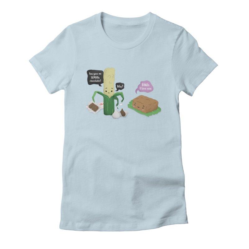 Suman & Biko Women's Fitted T-Shirt by Filipeanut Sari-Sari Store