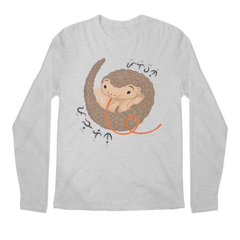 Palawan Pangolin Men's Longsleeve T-Shirt by Filipeanut Sari-Sari Store