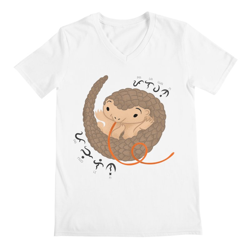 Palawan Pangolin Men's V-Neck by Filipeanut Sari-Sari Store