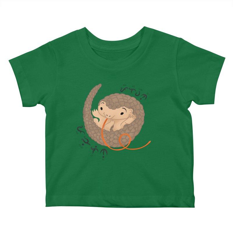 Palawan Pangolin Kids Baby T-Shirt by Filipeanut Sari-Sari Store