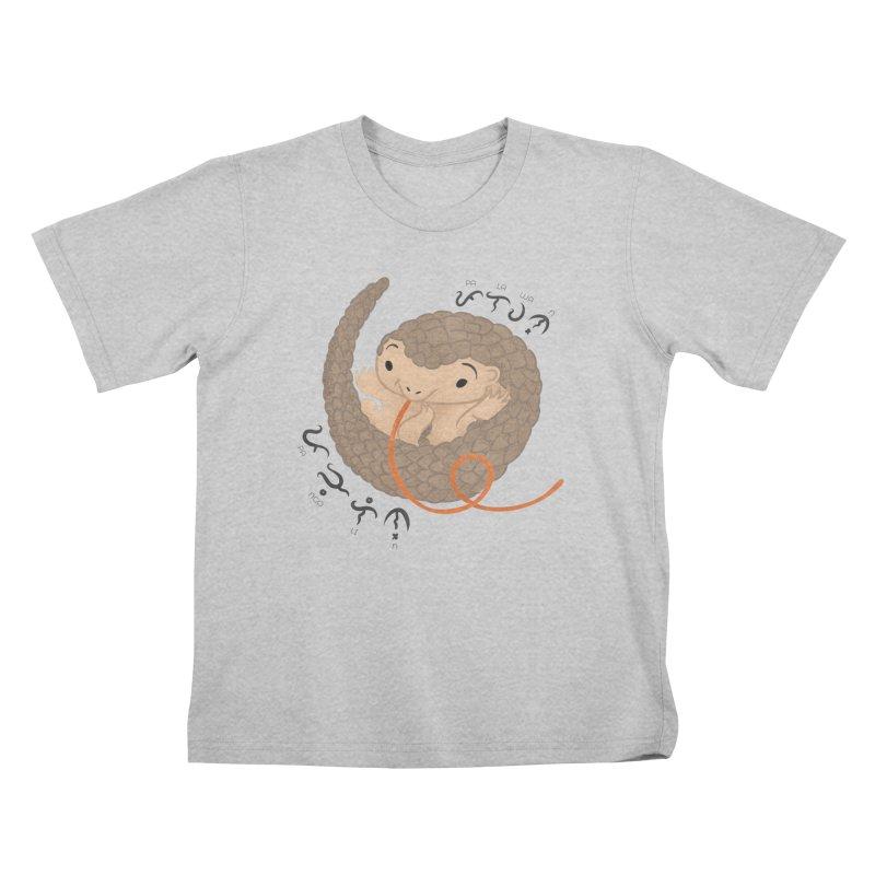 Palawan Pangolin Kids T-Shirt by Filipeanut Sari-Sari Store