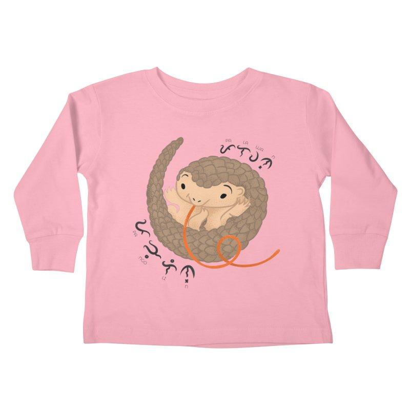 Palawan Pangolin Kids Toddler Longsleeve T-Shirt by Filipeanut Sari-Sari Store