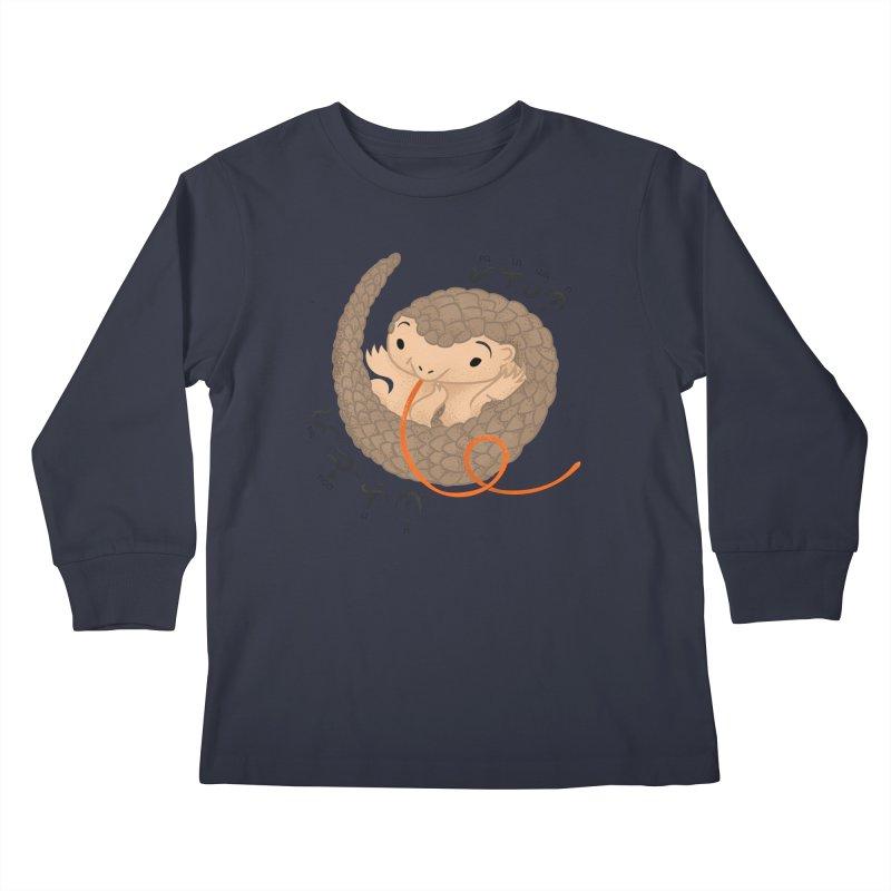 Palawan Pangolin Kids Longsleeve T-Shirt by Filipeanut Sari-Sari Store