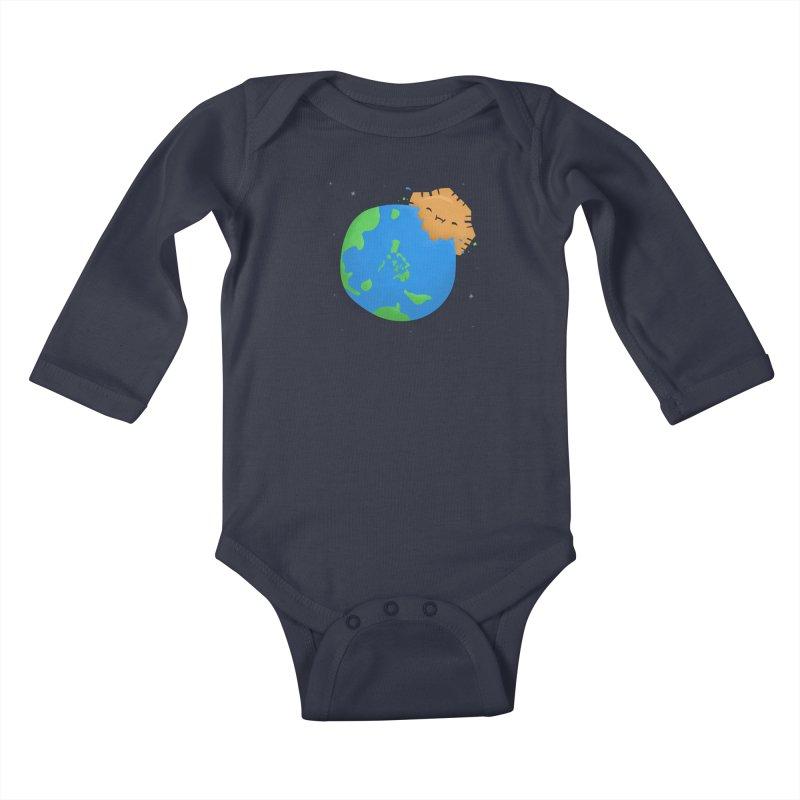 Sun Eating World Kids Baby Longsleeve Bodysuit by Filipeanut Sari-Sari Store