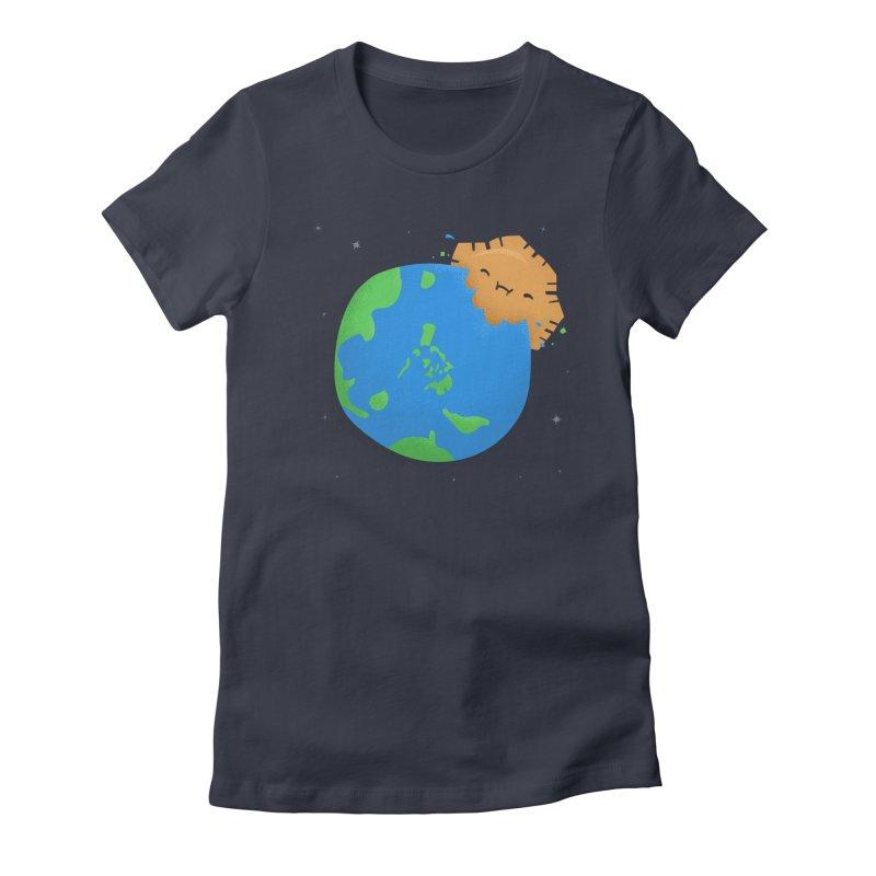 Sun Eating World Women's Fitted T-Shirt by Filipeanut Sari-Sari Store