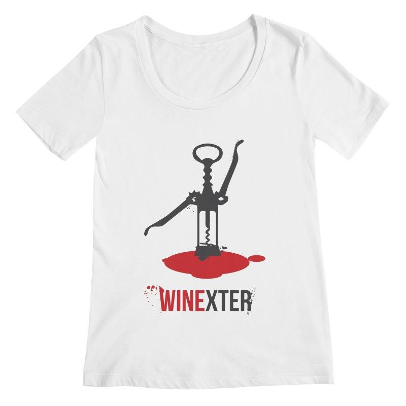 Winexter Women's Regular Scoop Neck by fillettespompettes's Shop