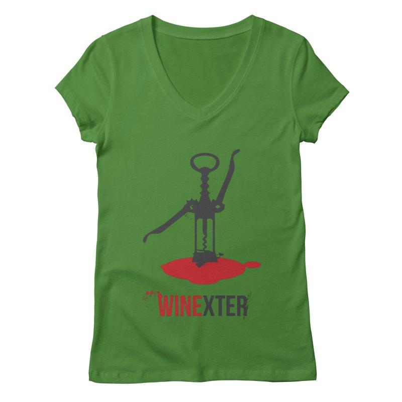 Winexter Women's Regular V-Neck by fillettespompettes's Shop