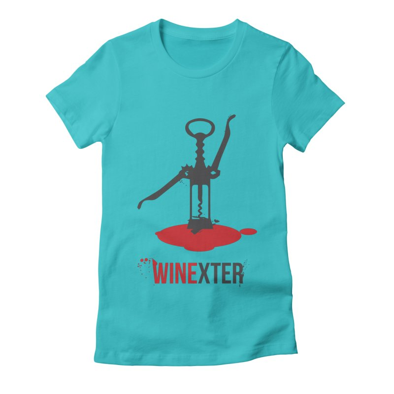 Winexter in Women's Fitted T-Shirt Pacific Blue by fillettespompettes's Shop