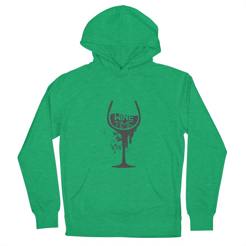 Wine time Women's French Terry Pullover Hoody by fillettespompettes's Shop