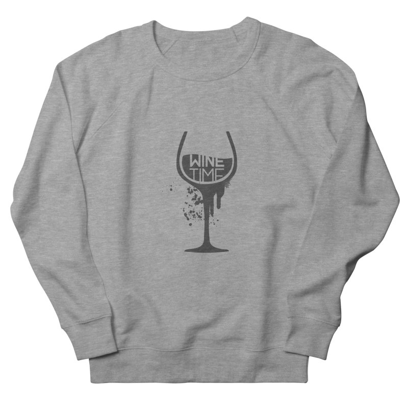 Wine time Men's French Terry Sweatshirt by fillettespompettes's Shop