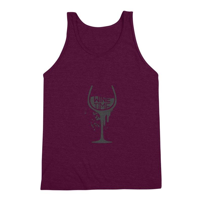 Wine time Men's Triblend Tank by fillettespompettes's Shop