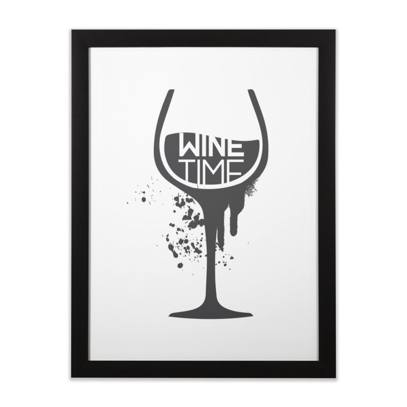 Wine time Home Framed Fine Art Print by fillettespompettes's Shop