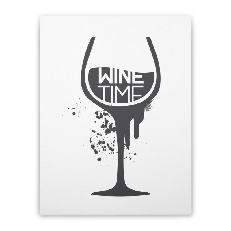 Wine time Home Stretched Canvas by fillettespompettes's Shop