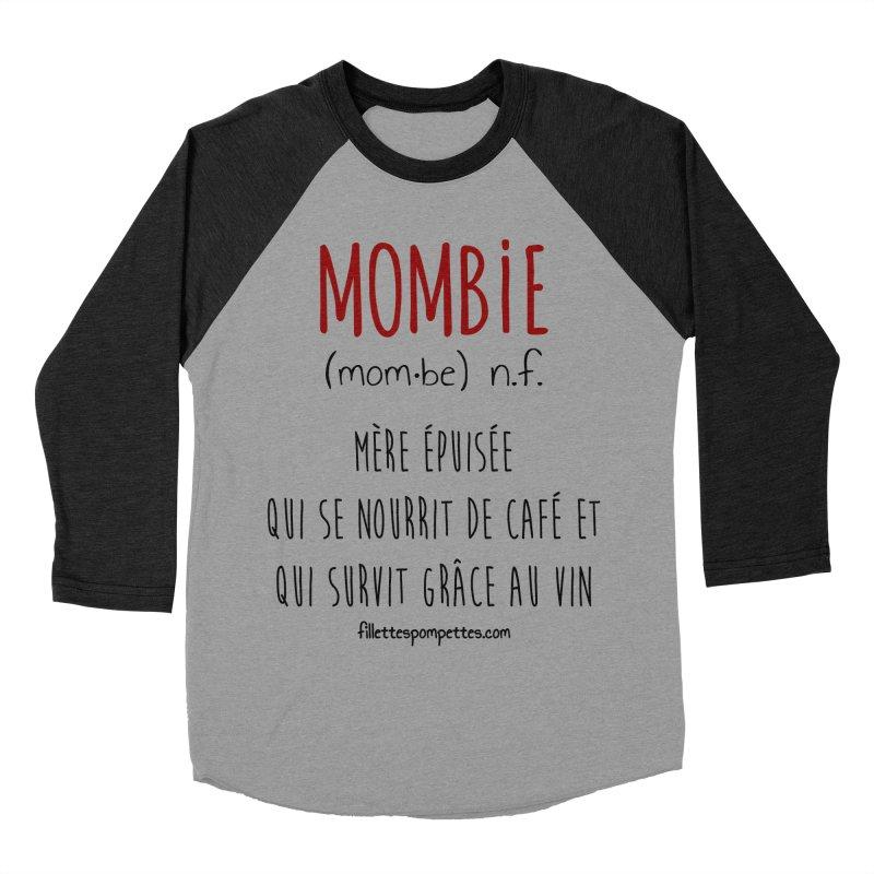Mombie Women's Baseball Triblend Longsleeve T-Shirt by fillettespompettes's Shop