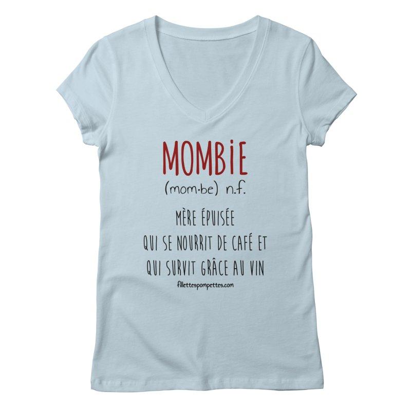 Mombie Women's Regular V-Neck by fillettespompettes's Shop