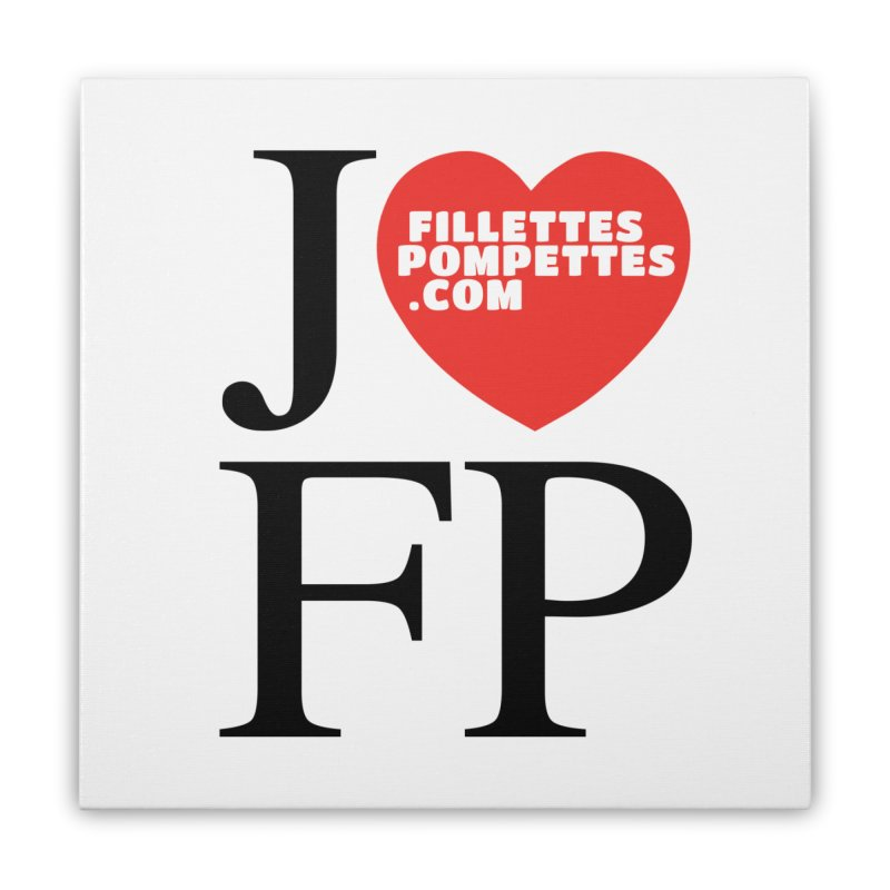 J'AIME LES FILLETTES POMPETTES Home Stretched Canvas by fillettespompettes's Shop
