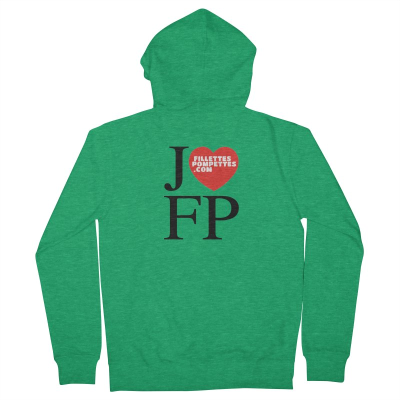 J'AIME LES FILLETTES POMPETTES Women's French Terry Zip-Up Hoody by fillettespompettes's Shop
