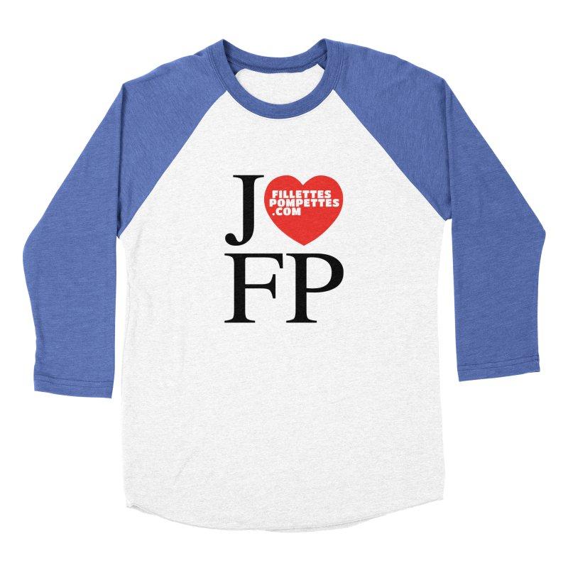 J'AIME LES FILLETTES POMPETTES Men's Baseball Triblend Longsleeve T-Shirt by fillettespompettes's Shop