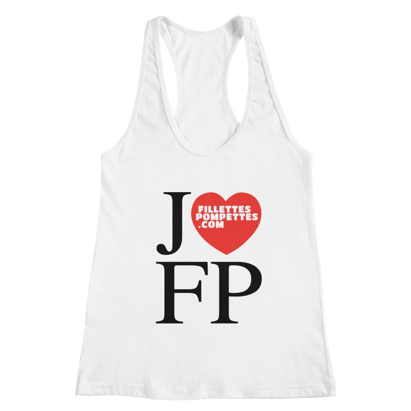 J'AIME LES FILLETTES POMPETTES Women's Racerback Tank by fillettespompettes's Shop