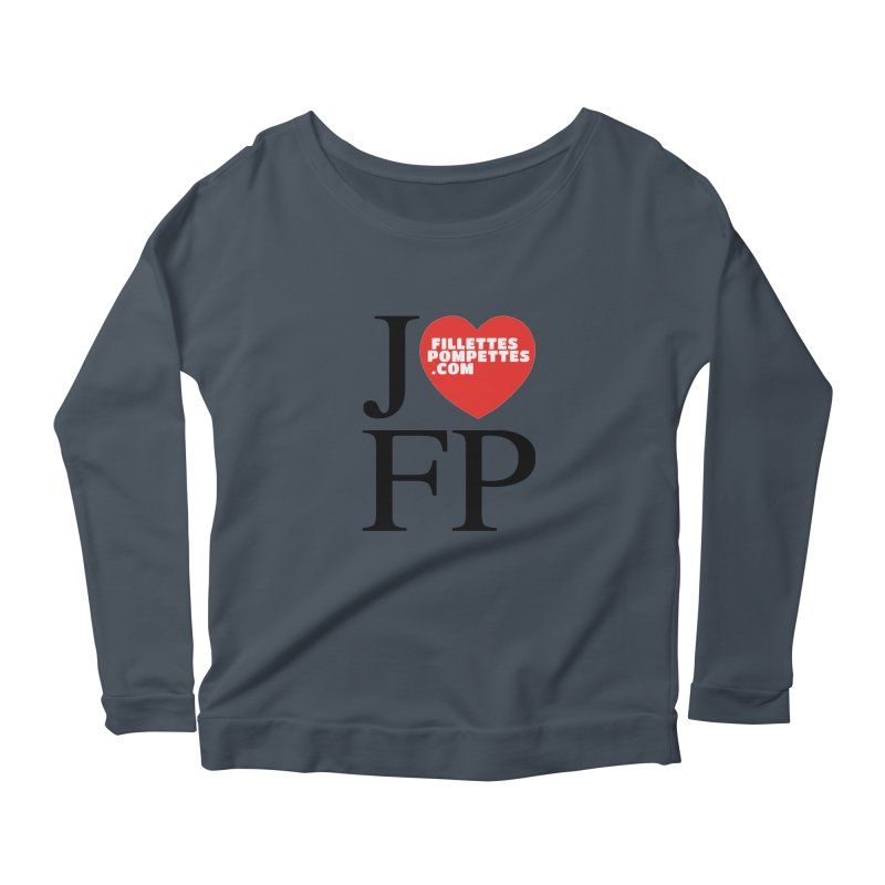 J'AIME LES FILLETTES POMPETTES Women's Scoop Neck Longsleeve T-Shirt by fillettespompettes's Shop