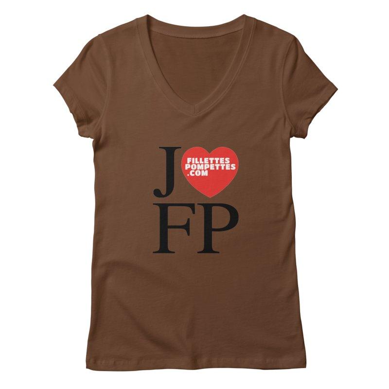 J'AIME LES FILLETTES POMPETTES Women's Regular V-Neck by fillettespompettes's Shop