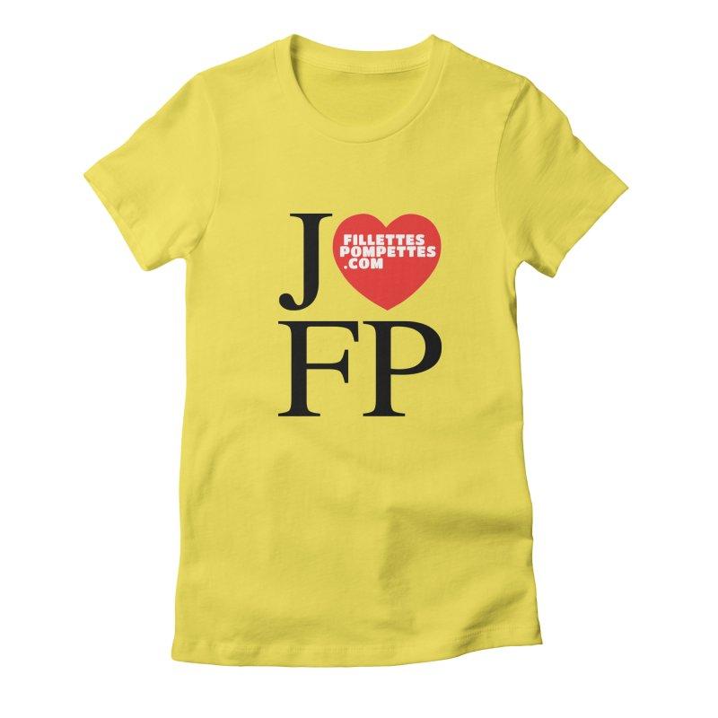 J'AIME LES FILLETTES POMPETTES Women's Fitted T-Shirt by fillettespompettes's Shop