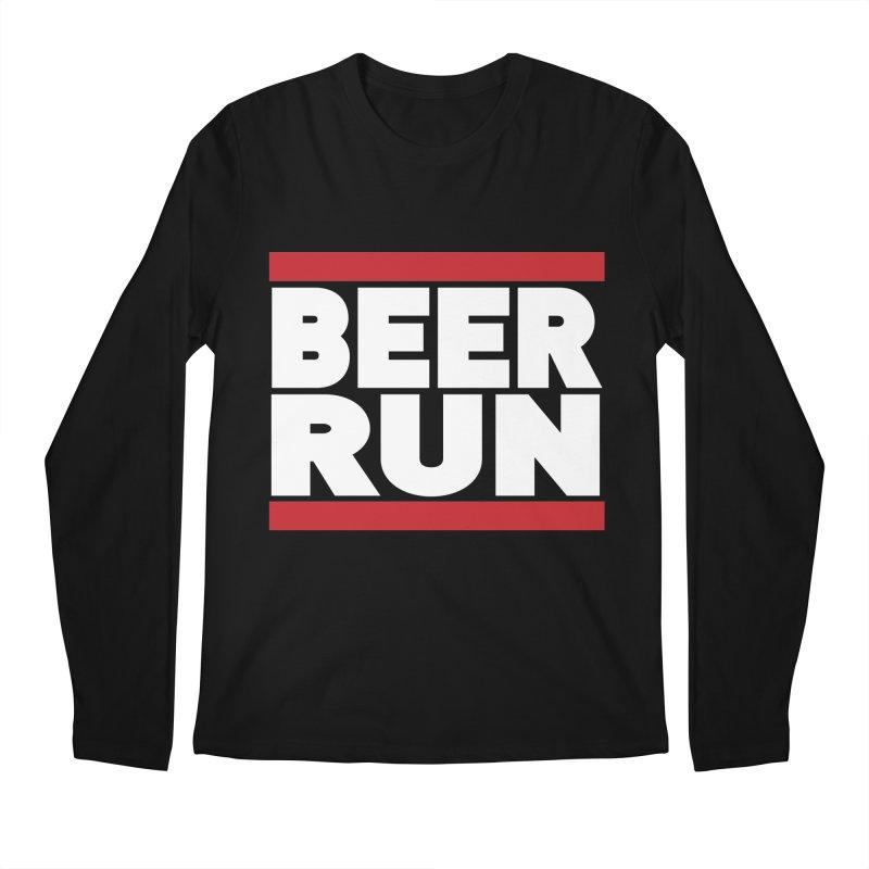 Beer Run  Men's Longsleeve T-Shirt by Fillistrator's Artist Shop