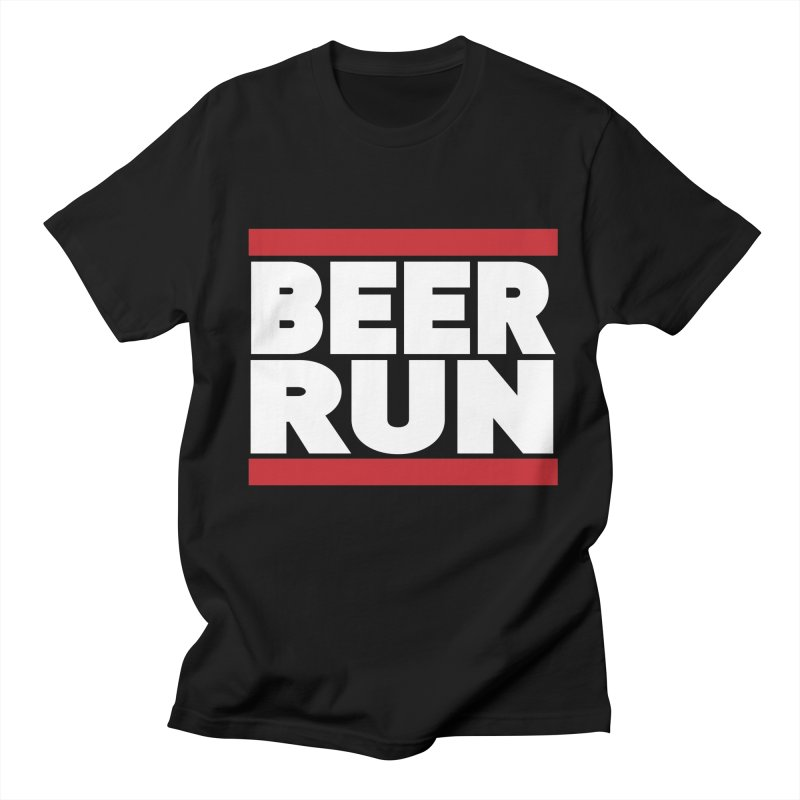 Beer Run  Men's T-shirt by Fillistrator's Artist Shop