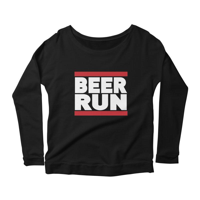 Beer Run  Women's Longsleeve Scoopneck  by Fillistrator's Artist Shop