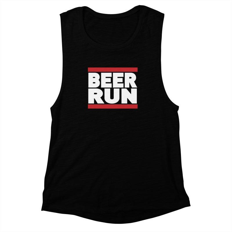 Beer Run  Women's Muscle Tank by Fillistrator's Artist Shop