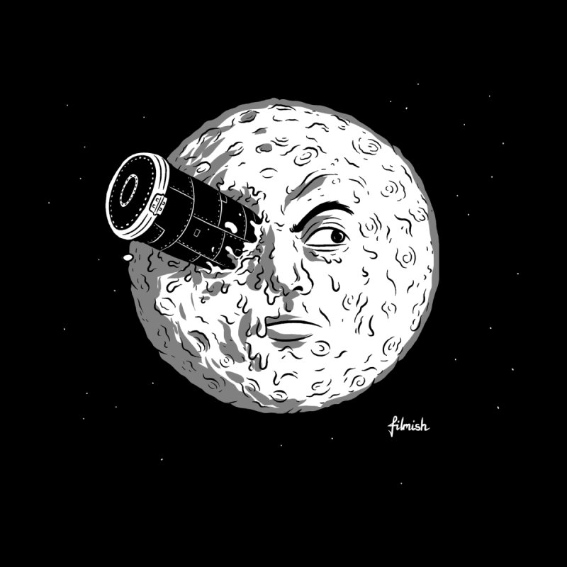 A Trip to the Moon None  by Filmish Tees
