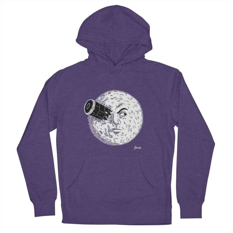 A Trip to the Moon Women's French Terry Pullover Hoody by Filmish Tees