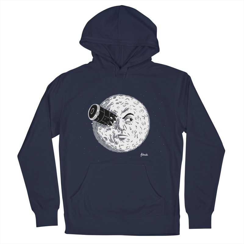 A Trip to the Moon Men's French Terry Pullover Hoody by Filmish Tees