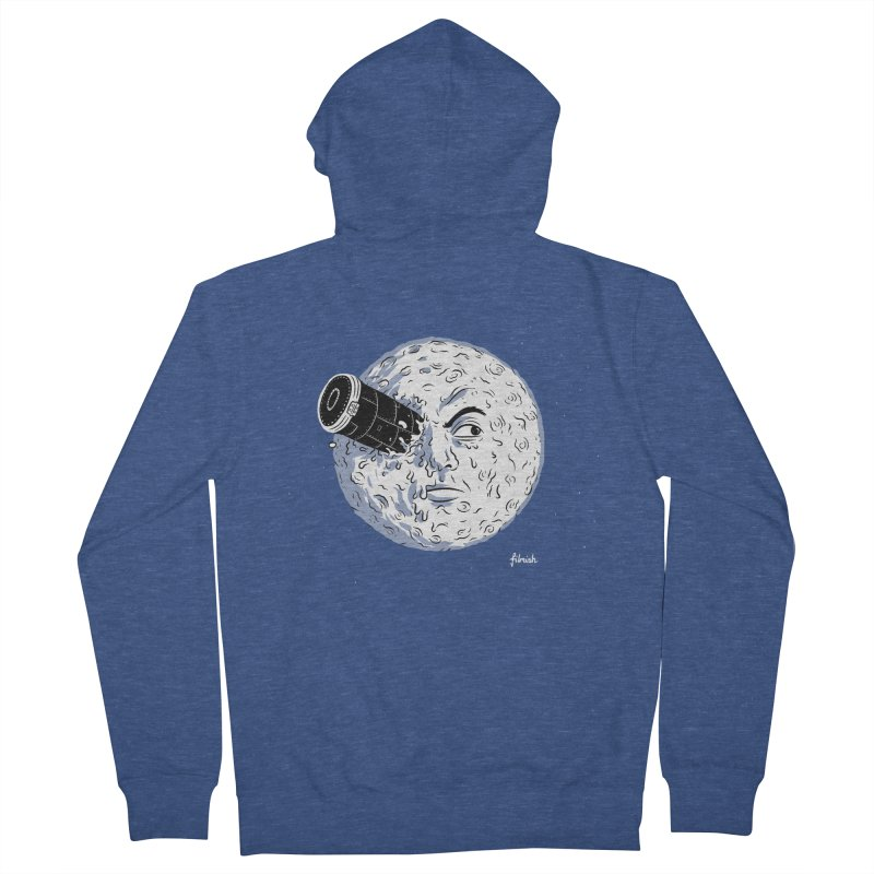 A Trip to the Moon Women's French Terry Zip-Up Hoody by Filmish Tees
