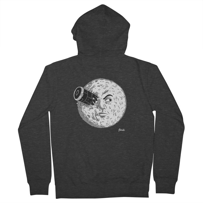 A Trip to the Moon Men's French Terry Zip-Up Hoody by Filmish Tees