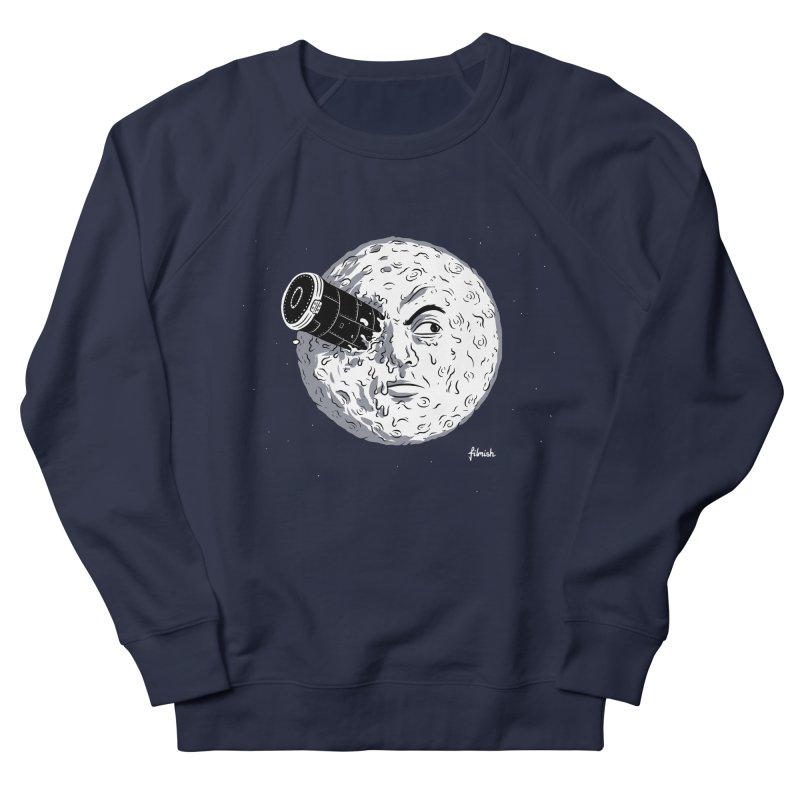 A Trip to the Moon Men's French Terry Sweatshirt by Filmish Tees