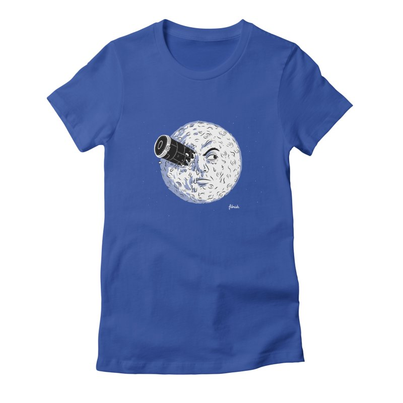 A Trip to the Moon Women's Fitted T-Shirt by Filmish Tees