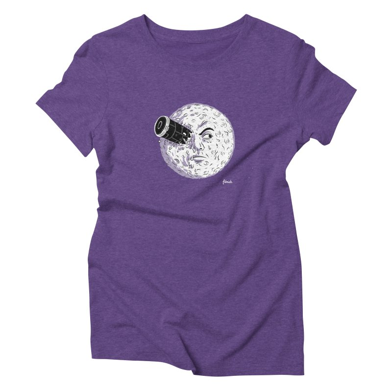 A Trip to the Moon Women's Triblend T-shirt by Filmish Tees